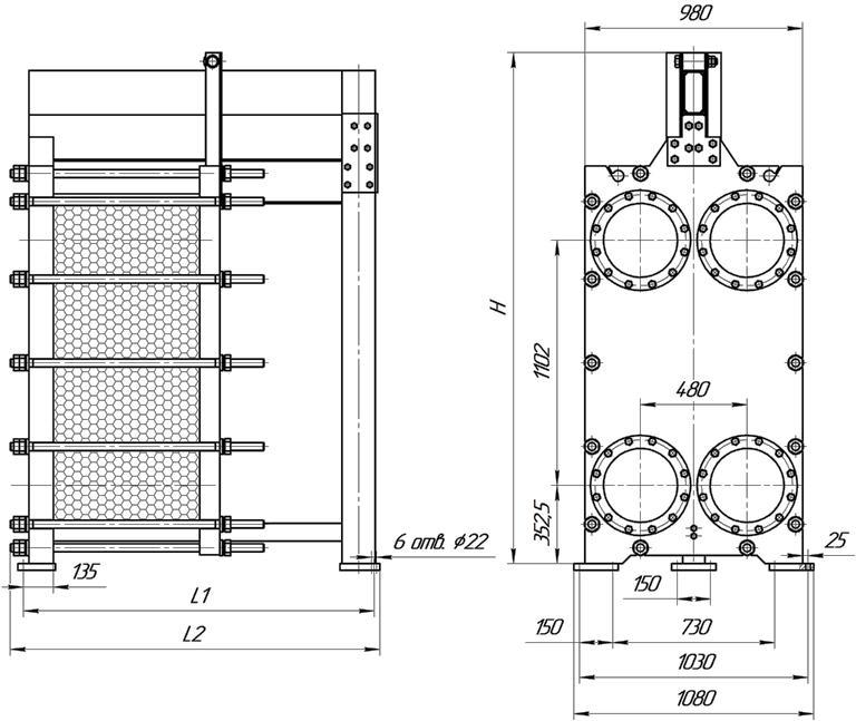 Уплотнения теплообменника КС 57 Артём