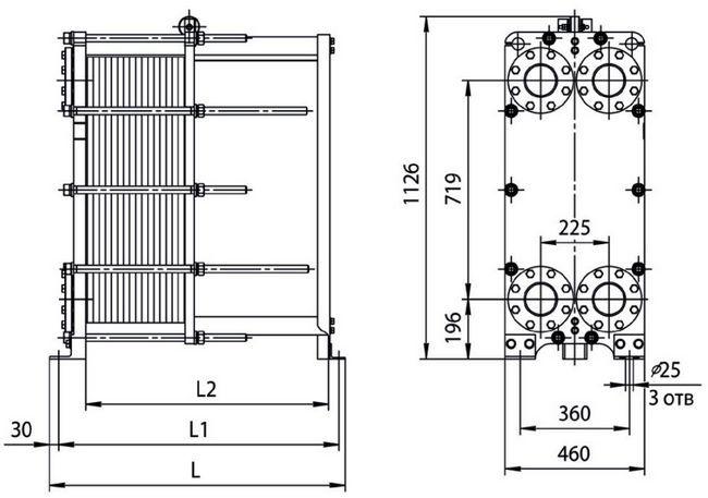 Теплообменник ридан размеры Кожухотрубный жидкостный ресивер ONDA RL-V 12 Новоуральск