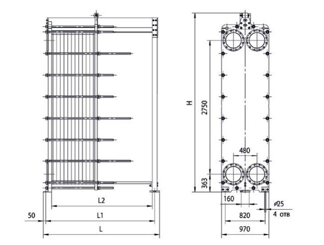 Пластинчатый теплообменник ридан нн цена Кожухотрубный теплообменник Alfa Laval VLR7x25/104-3,0 Дзержинск