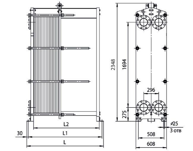 Теплообменник ридан нн 8а цена Кожухотрубный испаритель Alfa Laval DET 130 Махачкала