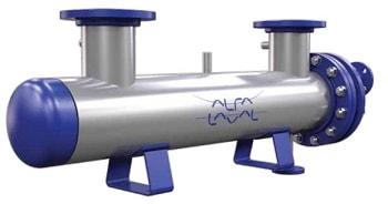 Кожухотрубный конденсатор Alfa Laval CDEW-300 T Москва печи чугунные с теплообменником недорого