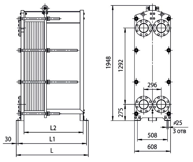 Пластинчатый теплообменник ридан тип нн 62 Полусварной теплообменник Thermowave thermolineVario TL-90 Махачкала