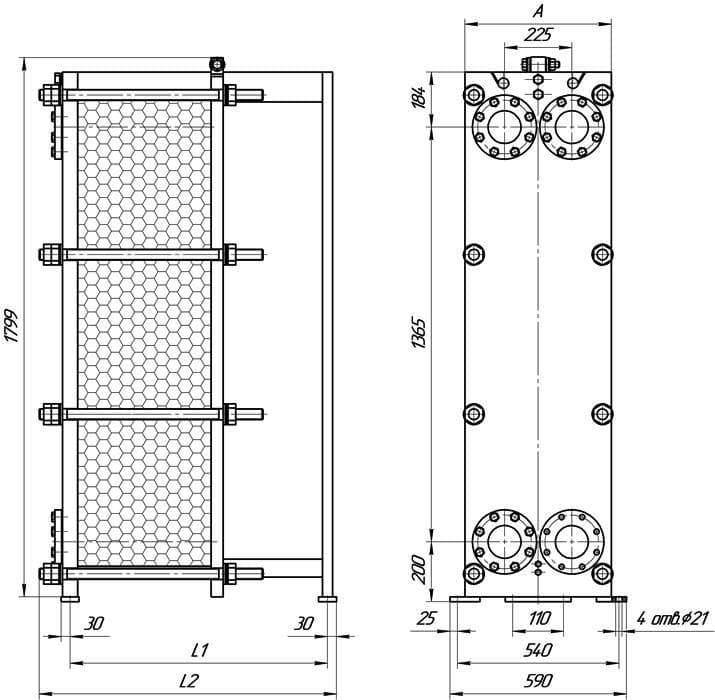 Сайт этра теплообменники Кожухотрубный испаритель Alfa Laval DXD 160R Зеленодольск