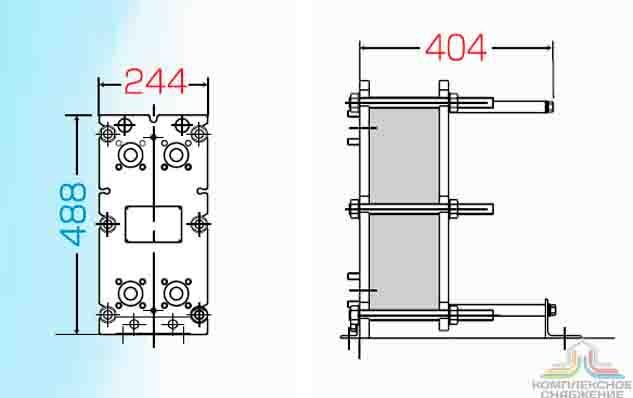 Уплотнения теплообменника Sondex S7 Таганрог