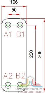 Паяный теплообменник KAORI Z416 Архангельск Кожухотрубный испаритель Alfa Laval DXD 390R Стерлитамак