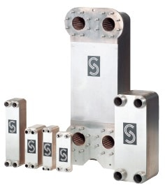 Паяный теплообменник Sondex SL14 Северск Кожухопластинчатый теплообменник-испаритель Машимпэкс (GEA) с сепаратором PSHE-14 Биробиджан