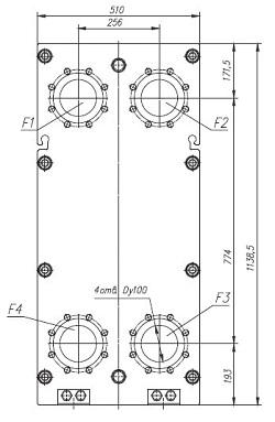 Пластинчатый теплообменник ТПлР S46 IS.01 Артём Кожухотрубный испаритель Alfa Laval DED 1100 Рубцовск