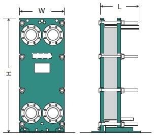 Пластинчатый теплообменник HISAKA SX-80M Москва Кожухотрубный испаритель Alfa Laval DXQ 1500 Серов