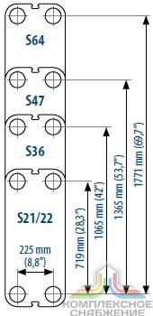 Пластины теплообменника Sondex SN51 Камышин Пластинчатый теплообменник Tranter GX-042 P Бузулук