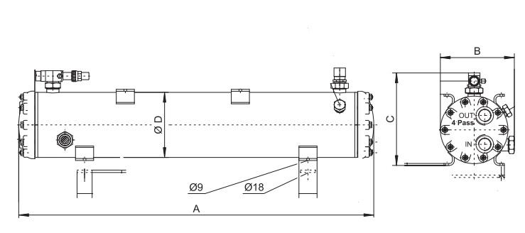 Кожухотрубный теплообменник BITZER F552T