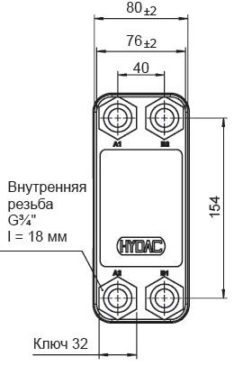 Паяный теплообменник HYDAC HEX S615-30 Москва купить теплообменник для baxi main four 240 а